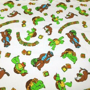 Vintage Franklin the Turtle Twin Flat sheet UNUSED